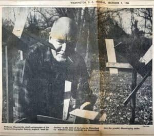 Wellman Chamberlin inspects mole deflectors in Waterford Virginia