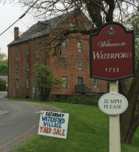 Waterford Virginia yard sale at the Old Mill yardsale