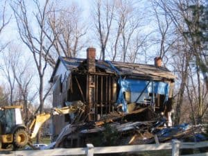 Simms house being demolished