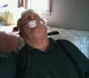 Joe Keating hard at work