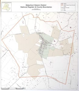 Map of the Waterford Historic District in Loudoun Coundoun VA