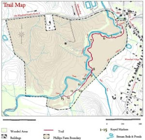 Phillips Farm Trail Map for hiking in Waterford Virginia