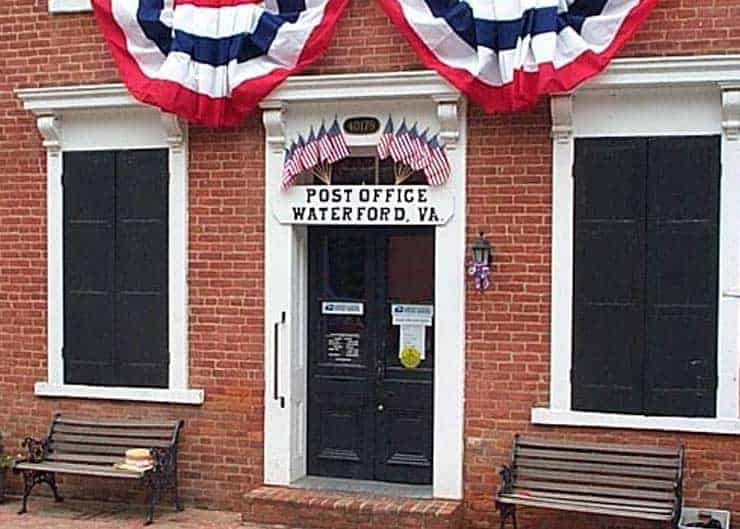 Waterford Post Office on July 4th in Waterford VA