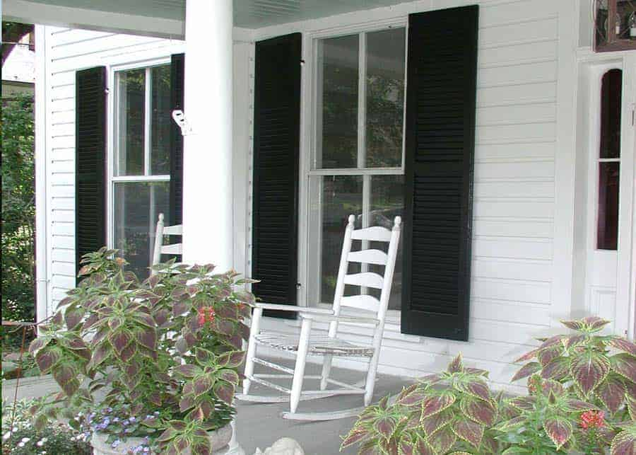 Porch and rocking chair in Waterford Virginia