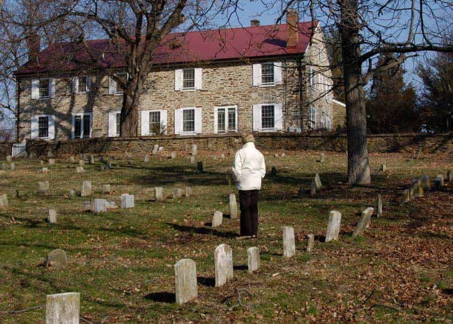 quaker cemetery in Waterford Virginia