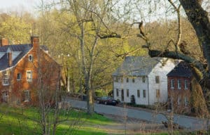 Touring the bottom of Main Street in the spring in Waterford VA
